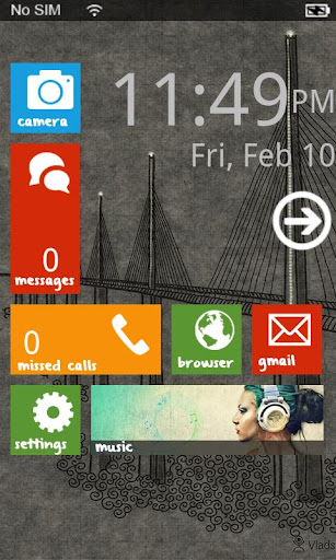windows phone 7 launcher android